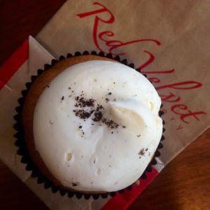 White Velvet gluten-free cupcake